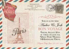 Paris Bon Voyage Post Card