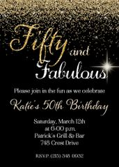 Fifty and Fabulous Birthday Invitation