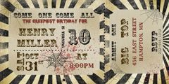 Circus Ticket Halloween Party Invitation
