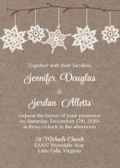 Country Snowflake Wedding Invitation