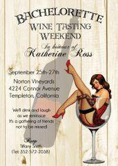 Bachelorette Weekend Wine Party Invitation