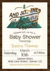 And So The Adventure Begins Baby Shower Invitation