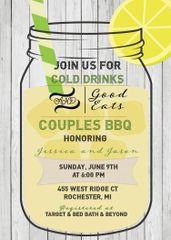 Couples BBQ Bridal Shower Invitation