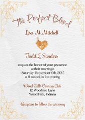 Perfect Blend Wedding Invitation