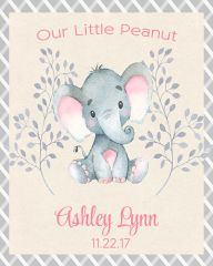 Our Little Peanut Elephant Girl Sign