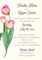 Tulips Wedding Invitation