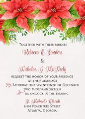 Poinsettia Wedding Invitation