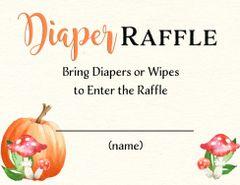 Diaper Raffle-Watercolor Pumpkin