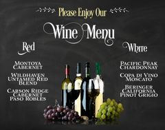 Wine Signature Drink Menu