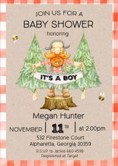 Little Lumberjack Baby Shower Invitation