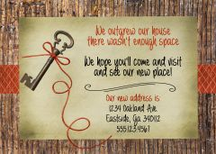 Key To Home Housewarming Invitation