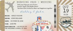 Las Vegas Airplane Ticket Wedding Invitation