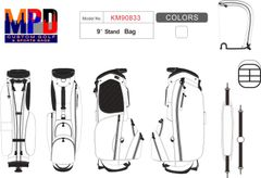 MPD Custom Golf Single Strap Carry Stand Bag 6