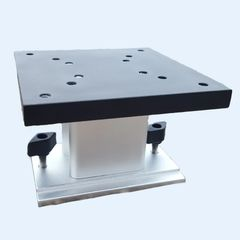 Perfect Fit Non-Swivel Pedestal Mount 5x5 for Cannon Riggers, with Track Base