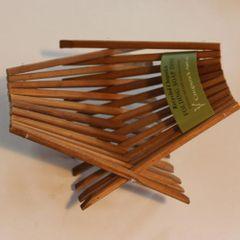 Za: Chopstick Art Soap Dish - tea stained