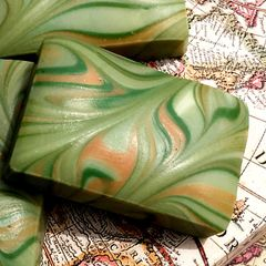 (N8c) The Seafarer ~ Lime and Ginger scented soap - Out of stock