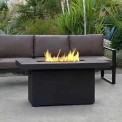 Real Flame Ventura Rectangle Chat Fire Table w/NG Conversion kit (Ships Truck Call for Rates)