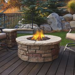 Real Flame Sedona Round LP Fire table w/NG conversion kit (Ships Truck Call for Rates)