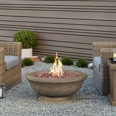 Real Flame Treviso Round LP Fire Table w/NG conversion kit (closeout item, qty is limited) (Ships Truck Call for Rates)