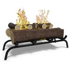 18 Inch Ethanol Fireplace Log Set with Burner Insert