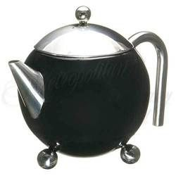 3 - Cup Tea Pot with strainer (Black)