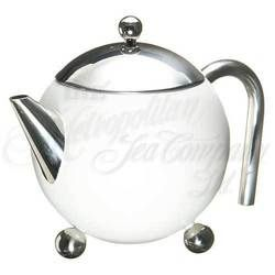 3 - Cup Tea Pot with strainer (white)