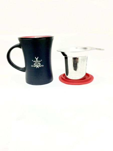 Mug with infuser (red)