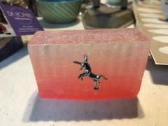 Unicorn Glitter Soap w/charm