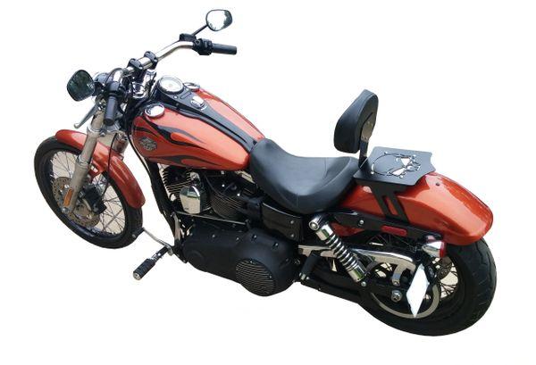 Harley Davidson Dyna Luggage Rack Backrest W/ Solo Seat