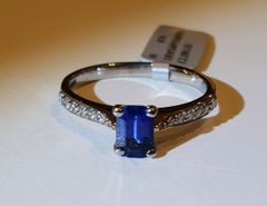 18WG Sapphire and Diamond Ring