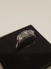 Platinum Diamond 3 Stone Ring