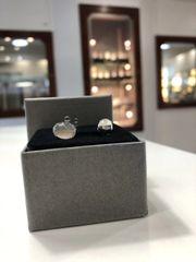 9WG Moonstone Stud Earrings