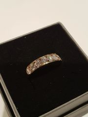 18ct yellow gold eight stone diamond ring