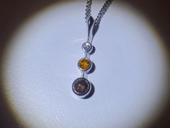18WG Coloured Diamond Pendant