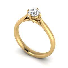 Single Stone Claw Set Diamond Engagement Ring