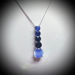 9WG Graduate Sapphire Five Stone Pendant