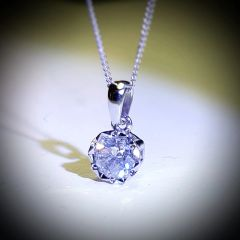 9WG Diamond Solitaire Pendant