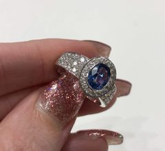18WG Sapphire and Diamond Dress Ring