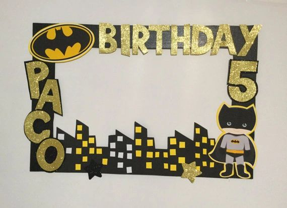 Batman birthday party. Batman Photo booth Frame. super heroe phot ...