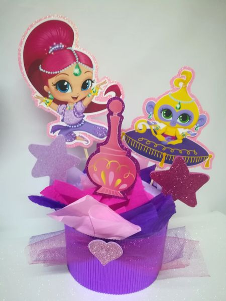 Shimmer And Shine 4 Centerpieces Princess Party Decoration Birthday Centerpiece