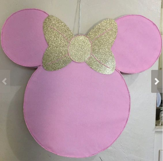 Minnie Mouse Pinata Minnie Mouse Gold And Pink Diy Minnie Mouse