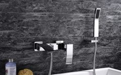 WALL Mounted Sistem CH Faucet SPOUT BRASS WITH HAND SHOWER*