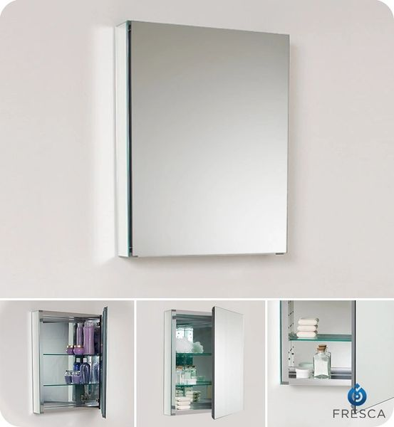 Wide Bathroom Medicine Cabinet w/ Mirrors 20""