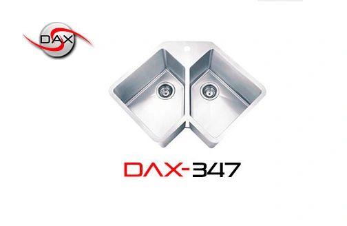 DAX347 Stainless Steel Corner Sink