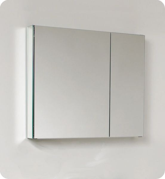 Wide Bathroom Medicine Cabinet w/ Mirrors 30""