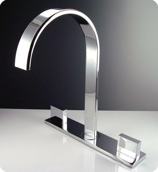 Sesia Widespread Mount Bathroom Vanity Faucet - Chrome