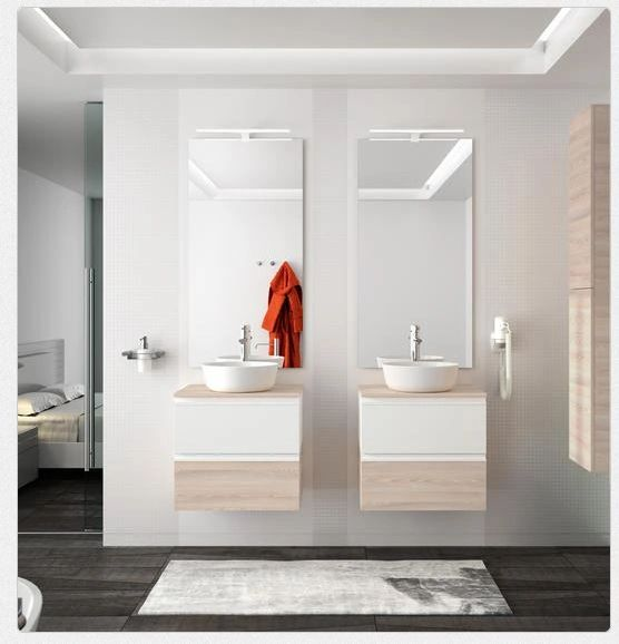 SA wall hung vanity SPIRIT 600 gloss white