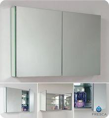 "Wide Bathroom Medicine Cabinet w/ Mirrors 40"""
