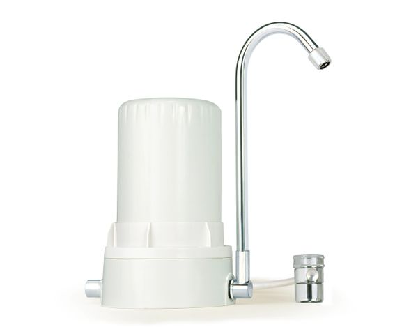 AYRO HT PLUS - Countertop Water Filter with Alkaline Minerals & Antioxidants - White White