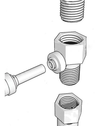 "NEW! DESIGNER FAUCET INSTALLATION KIT FOR 1/4"" TUBING"